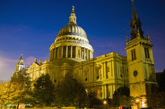 Saint Paul Cathedral at London. Saint Paul Cathedral dome, among the highest on the world Royalty Free Stock Photo