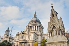 Saint Paul Cathedral at London, England Stock Photos