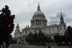 Saint paul cathedral. In London. Great britain. England Stock Photography