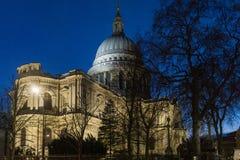 St Paul London at night stock photo