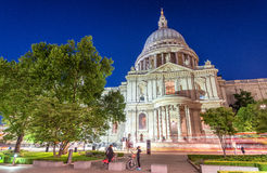 Saint Paul Cathedral at night - London, UK Stock Image