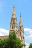 Saint Paul Cathedral, Pittsburgh. Pittsburgh, Pennsylvania - city in the United States. Saint Paul Cathedral - Roman catholic church in Gothic revival style Royalty Free Stock Photos