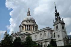 The Saint Paul cathedral. Under the cloud Stock Photos