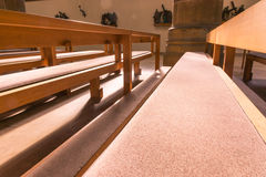 Saint Paul Church Cathedral Architecture Interior Pews Benches H Royalty Free Stock Photos