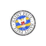 Saint Paul city stamp Royalty Free Stock Image