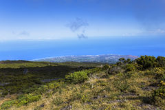 Saint Paul coastline, from piton Maido, La Reunion island Royalty Free Stock Images