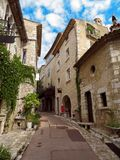 Saint-Paul-de-Vence - Architecture of city stock photos
