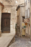 SAINT PAUL DE VENCE - AUGUST 28 is a beautiful medieval fortified village perched on a narrow spur between two deep valleys on Aug Royalty Free Stock Photography