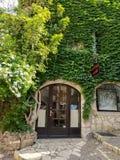 Saint Paul De Vence - Green exterior of house stock photos