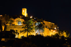 Saint Paul de Vence by night Stock Images