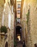 Saint Paul de Vence - ruas e arquitetura imagem de stock