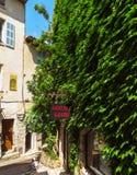 Saint Paul De Vence - ulicy i architektura Zdjęcia Stock
