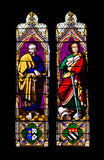 Saint Paul e Peter do indicador de vitral Imagens de Stock