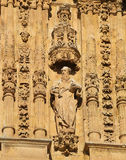 Saint Paul at the Facade of Convento de San Esteban, Salamanca Stock Photo