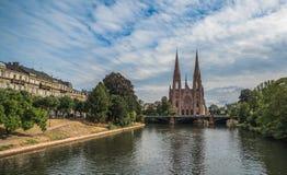 Saint Paul-kerk in Straatsburg, de Elzas, Frankrijk Royalty-vrije Stock Afbeelding