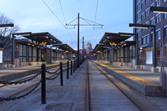 Saint Paul Light Rail Station and Capitol Royalty Free Stock Images