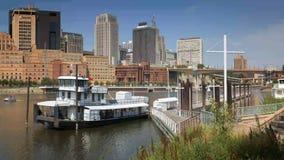 Saint Paul Minnesota Riverfront stock footage