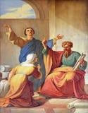 Saint Paul przy domem Aquila i Priscilla obraz royalty free