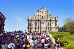 Saint Paul ruins Macau landmark Stock Photo