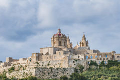 Saint Paul S Cathedral In Mdina, Malta Royalty Free Stock Image
