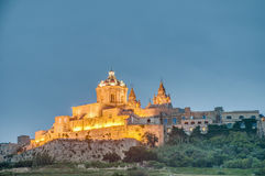 Saint Paul S Cathedral In Mdina, Malta Stock Photo