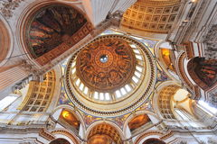 Saint Paul's cathedral - interior details Royalty Free Stock Photo