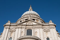 Saint Paul's Cathedral, London. Close-up view of the South façade of Saint Paul's Cathedral Royalty Free Stock Image