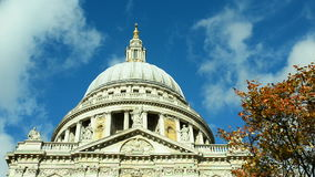 Saint Paul's cathedral, London stock footage