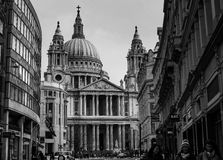 Saint Paul`s Cathedral London Royalty Free Stock Photo