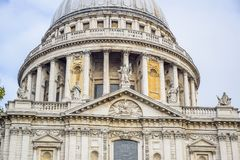 Saint Paul`s Cathedral in London, England royalty free stock photography