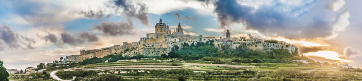 Saint Paul's Cathedral in Mdina, Malta Stock Photos