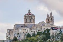 Saint Paul's Cathedral in Mdina, Malta Royalty Free Stock Photos