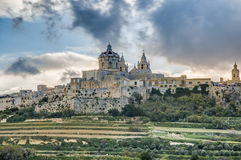 Saint Paul's Cathedral in Mdina, Malta Stock Image