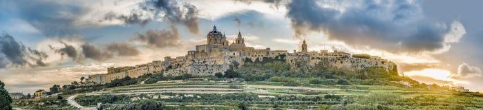Saint Paul's Cathedral in Mdina, Malta Stock Photo