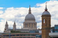 The famous St Paul`s cathedral , London, United Kingdom. royalty free stock image