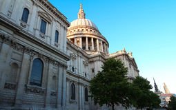The famous St Paul`s cathedral , London, United Kingdom. stock photography