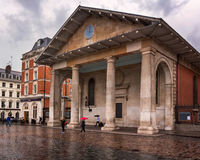 Saint Paul`s Church in Covent Garden on Rainy Day, London, Unite Stock Images