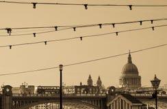 Saint Paul's and Millennium Bridge Stock Photo