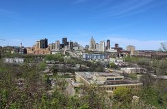 Saint Paul Skyline with a Blue Sky royalty free stock image