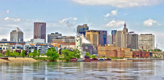 Saint Paul skyline in HDR. An HDR image of Saint Paul, Minnesota along the Mississippi River Stock Images