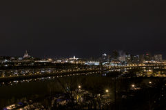 Saint Paul Skyline at Night Royalty Free Stock Photography