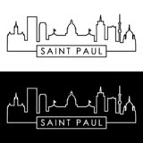 Saint Paul Skyline style linéaire illustration libre de droits
