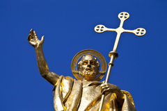 Saint Paul Statue at St. Pauls Cathedral in London Royalty Free Stock Photography