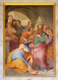 Saint Paul wird über den Jerusalem-Pöbel gewarnt lizenzfreies stockfoto