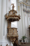 Saint Paulin Pulpit. Pulpit of the german baroc church Saint Paulin in Trier, Rhineland-Palatinate, Germany Royalty Free Stock Images