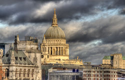 Saint Pauls Cathedral in London Royalty Free Stock Photography