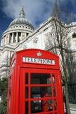 Saint Pauls Cathedral and phone Stock Photo