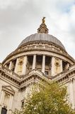 Saint pauls dome in london uk. With green tree royalty free stock photo