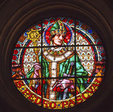 Saint Pedro Pacal Stained Glass Cathedral Granada Spain Stock Images