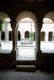 Saint Pere Rodes cloister Royalty Free Stock Image